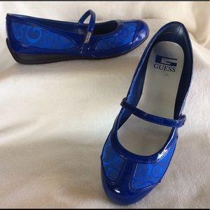 GUESS Blue logo Maryjane flats
